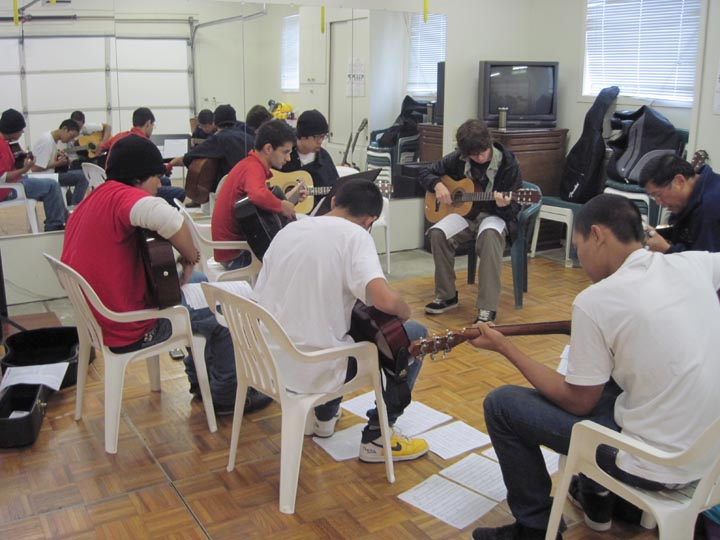 Concurrent with language classes, Bob Yee is teaching jazz guitar to teen ...
