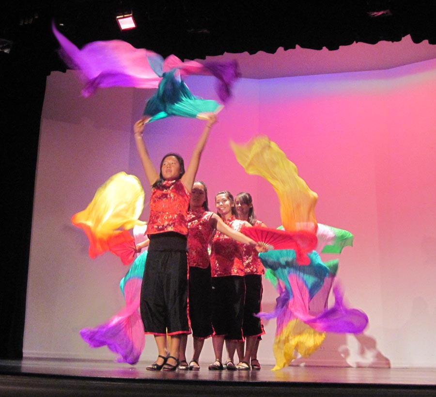 Our Teen Dancers on stage at the Dancing Poetry Festival, 2009.