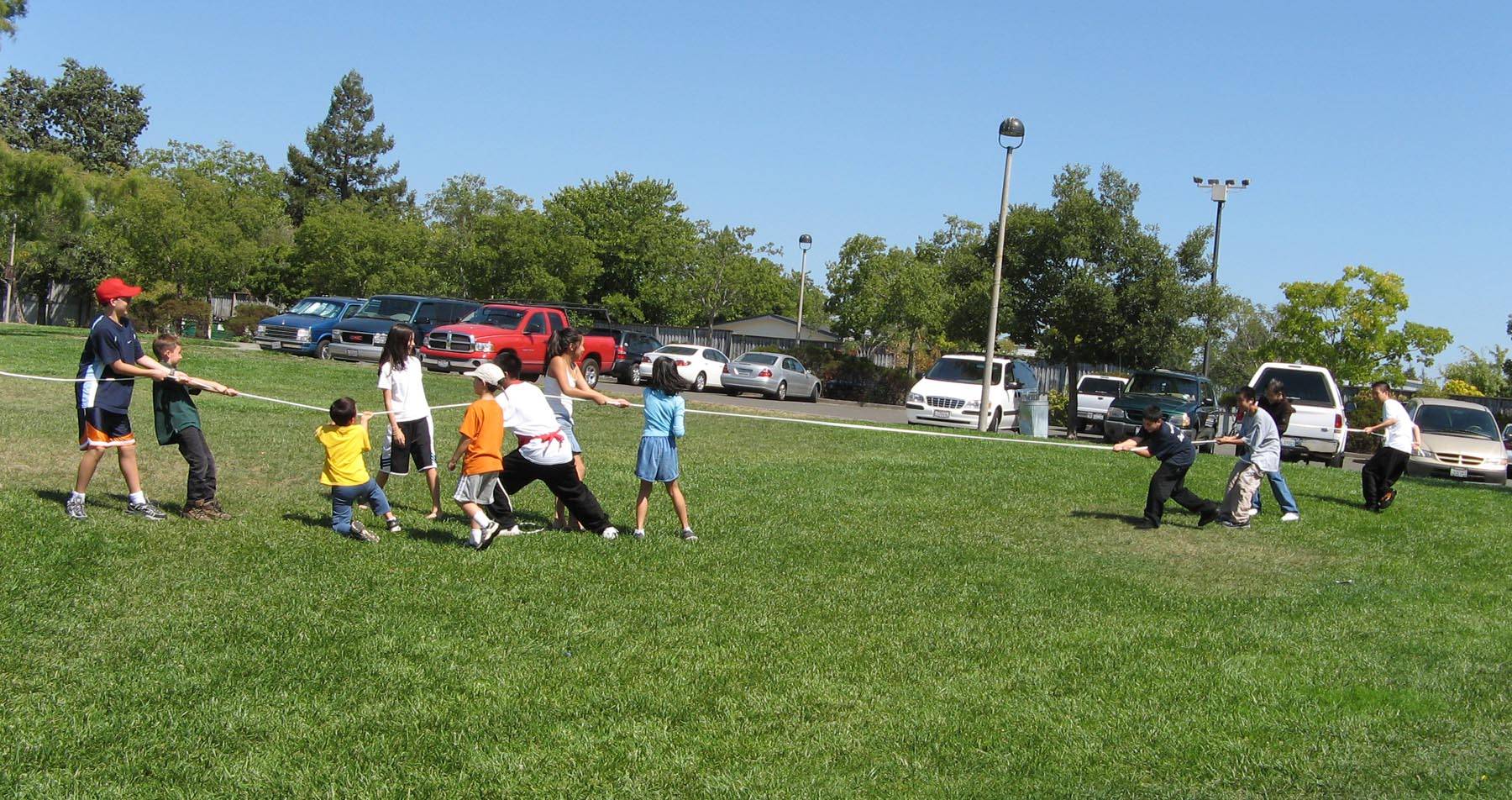 tugofwar RECA teens are in charge of organizing games for themselves and younger kids ...